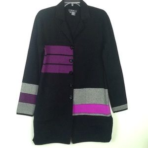 Anthro-Brand Women's color block jacket in Large